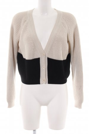Weekend Max Mara Strickjacke creme-schwarz Casual-Look