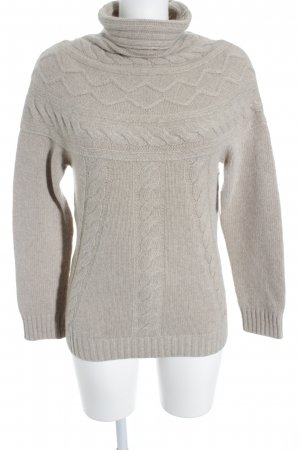 Weekend Max Mara Strickpullover creme Zopfmuster Casual-Look