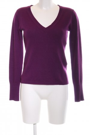 Weekend Max Mara Strickshirt lila Casual-Look