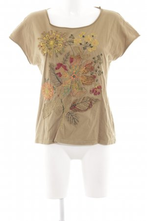 Weekend Max Mara T-Shirt braun Blumenmuster Casual-Look