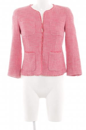 Weekend Max Mara Tweed Blazer pink weave pattern vintage look