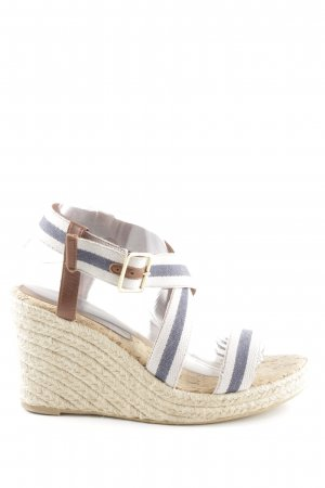 Weekend Max Mara Wedges Sandaletten Streifenmuster Casual-Look