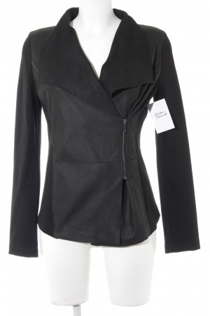 Weekend Max Mara Chaqueta cruzada negro look mate