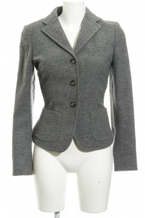 Weekend Max Mara Woll-Blazer dunkelgrau meliert Business-Look