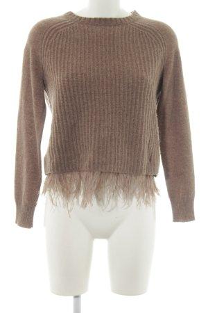 Weekend Max Mara Jersey de lana marrón claro look casual