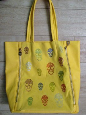 Tote yellow imitation leather
