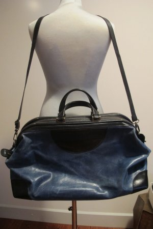 Belstaff Weekender Bag black-blue leather
