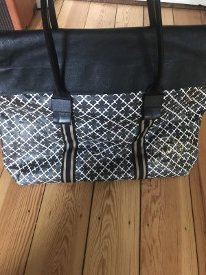by Malene Birger Weekender Bag black-white