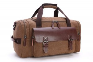 Travel Bag bronze-colored-brown leather