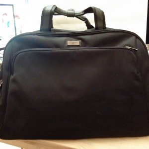 Goldpfeil Weekender Bag black synthetic fibre