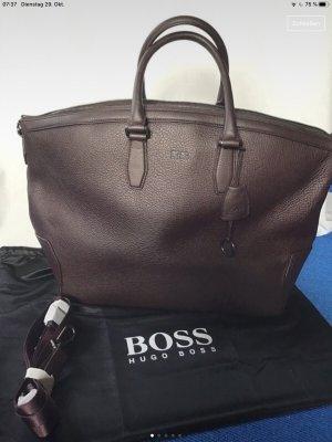 Hugo Boss Sac weekender brun foncé