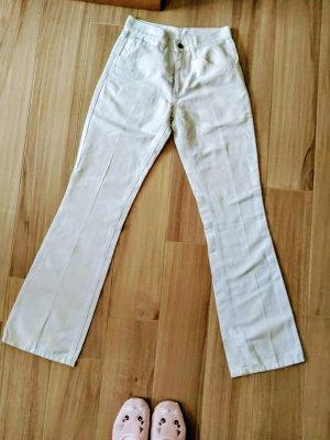 Levi's Pantalon taille haute blanc