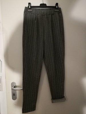 Pull & Bear Pantalone da abito bianco-grigio