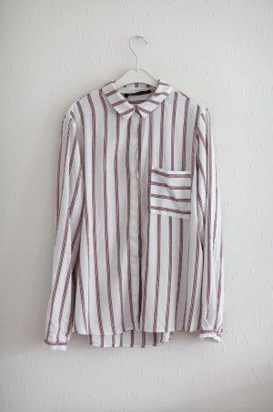 Weiche Baumwoll Oversize Bluse rot weiß gestreift ♥