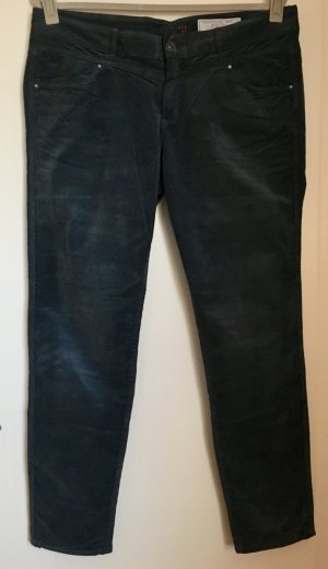 Edc Esprit Pantalone di velluto a coste petrolio