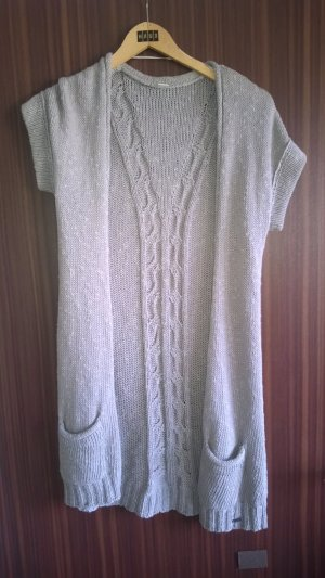 s.Oliver Short Sleeve Knitted Jacket silver-colored cotton