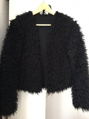 Weiche kurze Fellplüsch-Jacke von H&M