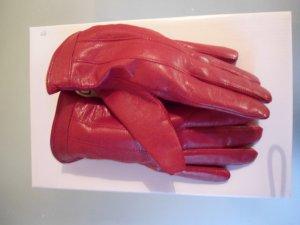weiche Lederhandschuhe in rot