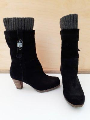 Scholl Buskins black-dark grey leather