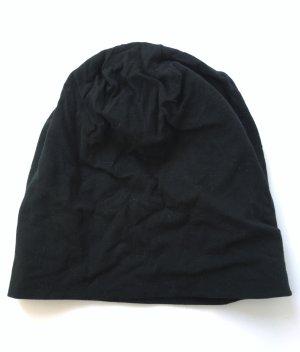 Weiche Schwarze Jerseymütze