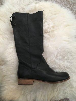 Hoge laarzen zwart Leer