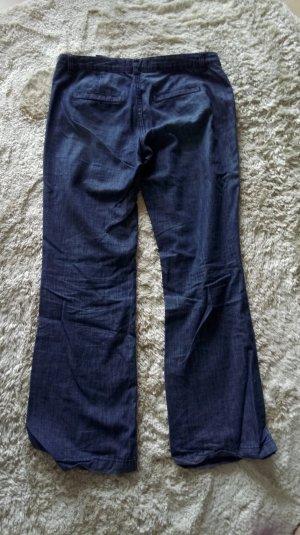 H&M Jeans a zampa d'elefante blu neon Cotone