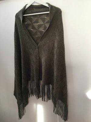 Stola grigio-verde-cachi Acrilico