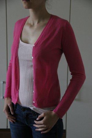 Weiche Strickweste in pink