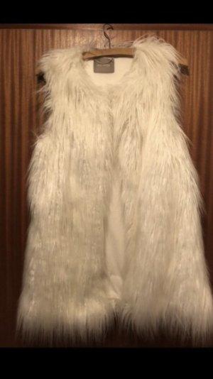 Weiche weiße Fellweste