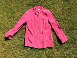 Weiche Wildlederbluse, pink, Gr 38