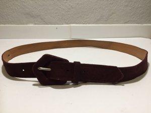 Weicher brauner Vintage Leder-Gürtel