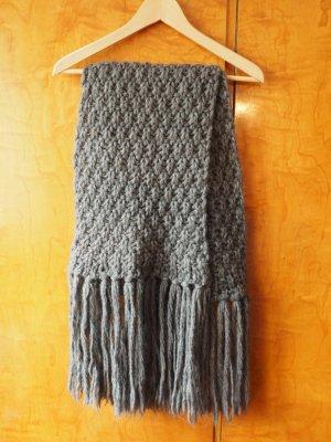 Hugo Boss Sciarpa di lana grigio scuro Lana