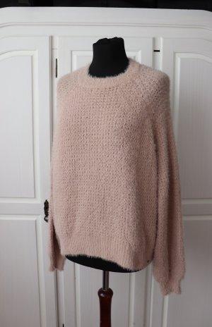 Weicher flauschiger Pullover von Pull&Bear Größe S 36 in rose rosa
