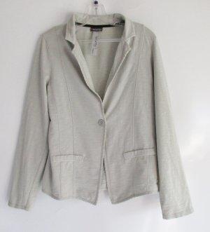 Weicher Jersey Blazer Jacke Street One Größe L 42 Beige Grün Ecru meliert Cardigan Model Marissa Soft Übergangsjacke Pullover