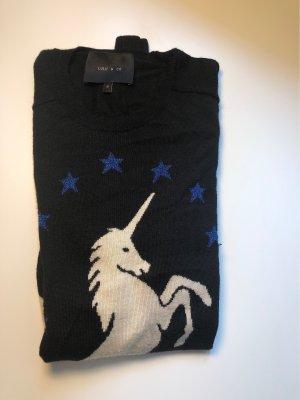 Weicher Kuschel Pullover mit blauen Glitzer Sternen