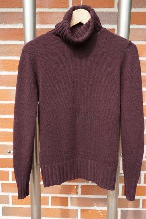 Jersey de cuello alto púrpura lana merina