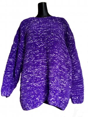 H&M Coarse Knitted Sweater blue violet polyester