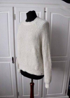 Pull & Bear Maglione lavorato a maglia bianco sporco-crema