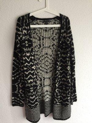 Weicher Long-Cardigan *Zebra* Wolle