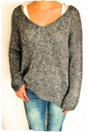 Weicher Oversize Mohair Pullover passt S bis L