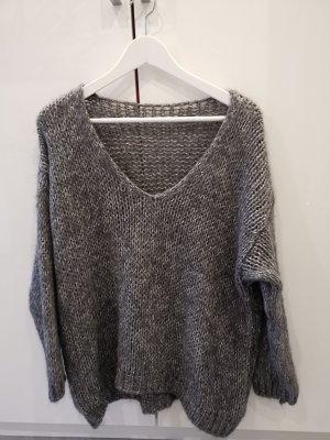 weicher Oversize Mohair Pullover passt S bis XL