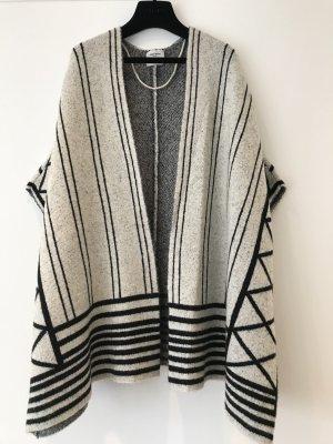 Vero Moda Chaqueta de lana negro-blanco puro tejido mezclado