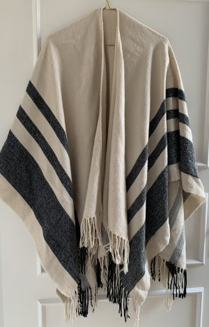 Urban Outfitters Poncho black-natural white