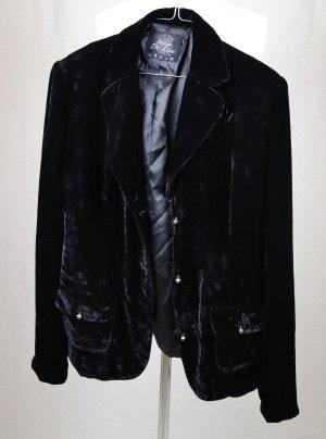 Blazer de esmoquin negro tejido mezclado