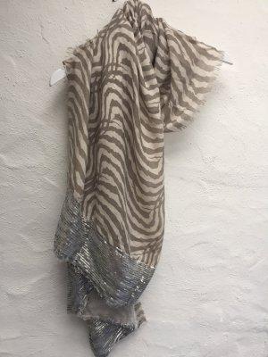 Weicher Schal *Zebra* silberne Pailletten