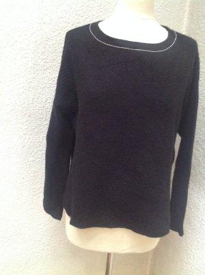 Crewneck Sweater black mixture fibre
