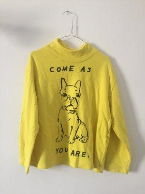 5 Preview Sweatshirt neongeel Katoen