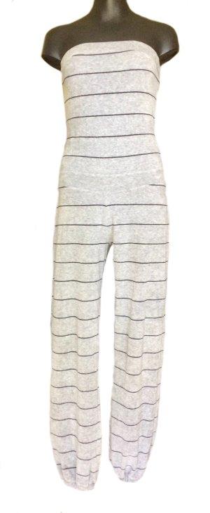 H&M Tailleur pantalone nero-grigio chiaro Cotone