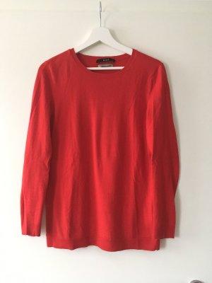 Oui Pullover in cashmere rosso Cachemire