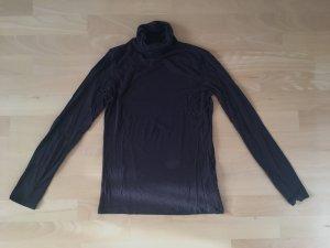 Tchibo / TCM Turtleneck Shirt dark brown-black brown